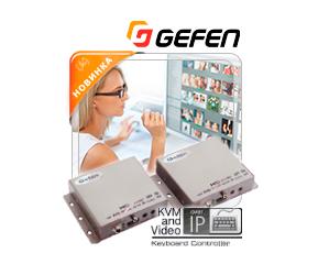 Удлинитель сигнала HDMI, RS-232 и двунаправленного ИК по локальной сети
