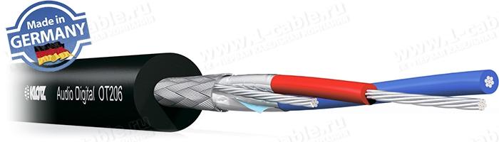 OT206YS, Кабель для цифровых Aудио и DMX сигналов, AWG24, двойной экран: плетеный + фольга
