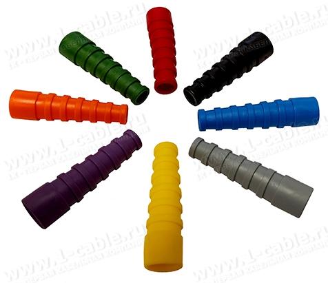 Хвостовик защитный цветной под разъём BNC на кабель диаметром 7.0 мм, гибкий