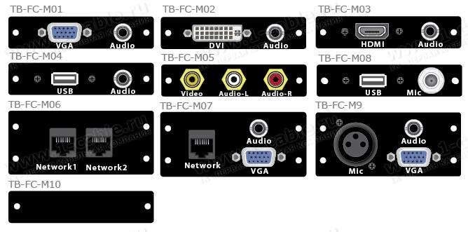 Адаптер проходной для настольных коммутационных люков TB-FC-SM2 и TB-FC-SM3
