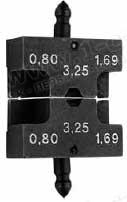 Губки для обжимного инструмента типа- LM, 3 размера