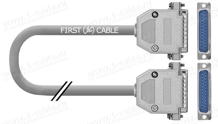 Кабель управления RS-232, серия Standart, D-Sub 25пин, штекер-штекер, эластичный
