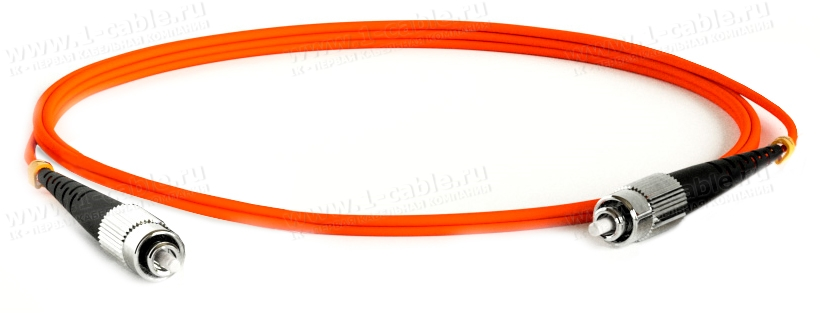 Кабель коммутационный, оптический, ST штекер > ST штекер, многомодовое волокно, симплекс