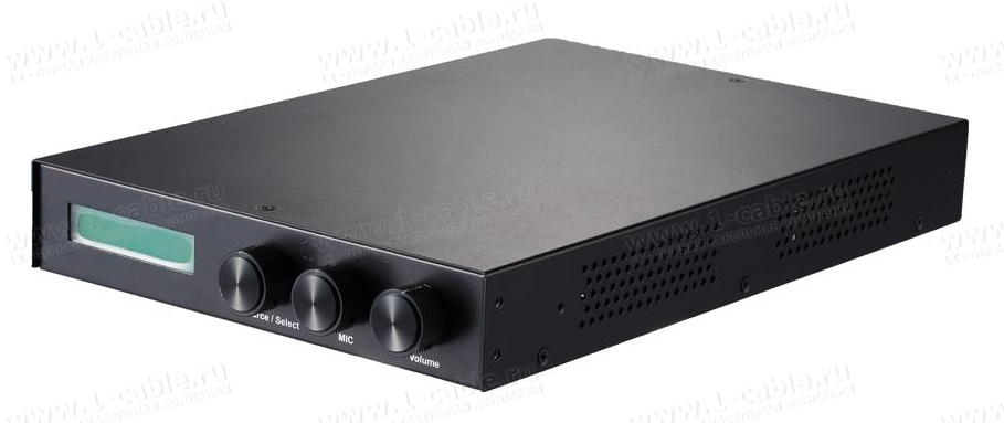 HIT-PSHDMICAT5-341, Презентационный коммутатор видеосигналов, с возможностью микширования микрофонного аудиосигнала, управление RS-232 и ИК
