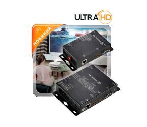 Удлинитель линий HDMI (4K2K) или VGA (1920x1200) и стереозвука по одному кабелю витая пара