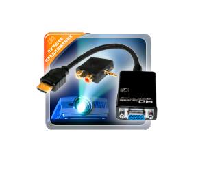 Конвертер цифрового HDMI в аналоговое VGA и аудио