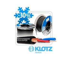 Зимнее потепление цены на микрофонный кабель MC2000SW от KLOTZ