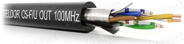 """C5-F/U-24/1HOUT, Кабель """"Витая пара"""", BASIC Solution, 5e кат., для наружных работ, всепогодный, F/UTP, 4 пары, 100 Мгц"""