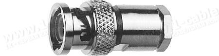Разъём BNC кабельный, штекер, муфта (закрутка), 75 Ом
