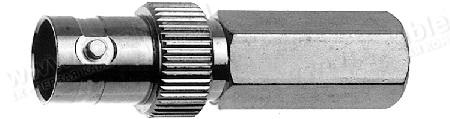 Разъём BNC для RG-59B/U кабельный, гнездо, резьбовая посадка, 75 Ом