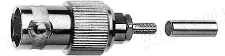 Разъём BNC для V-03/195 кабельный, гнездо, обжим, 75 Ом