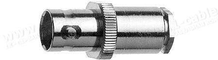 Разъём BNC кабельный, гнездо, муфта- закрутка, 50 Ом