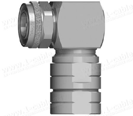 J01440A0013, Разъем 4.3-10 кабельный, угловой штекер, муфта, 50 Ом