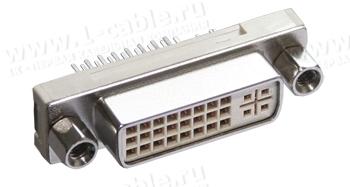Разъем DVI гнездо на плату, развертка контактов- 180 гр.