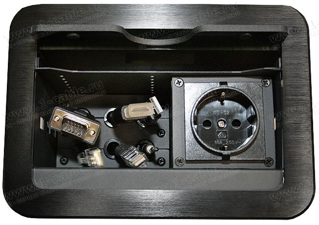 TB-FC-SC6 (снят с производства), Люк настольный коммутационный для вытягиваемых кабелей