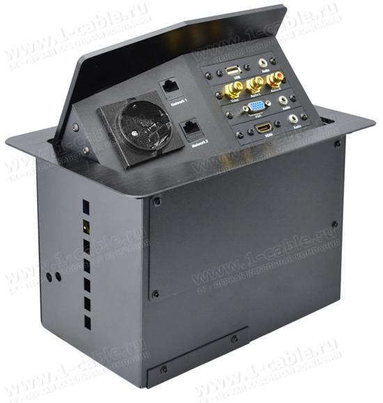 TB-FC-SM3 (распродажа остатков), Люк настольный коммутационный универсальный с поднимающейся над столом увеличенной панелью