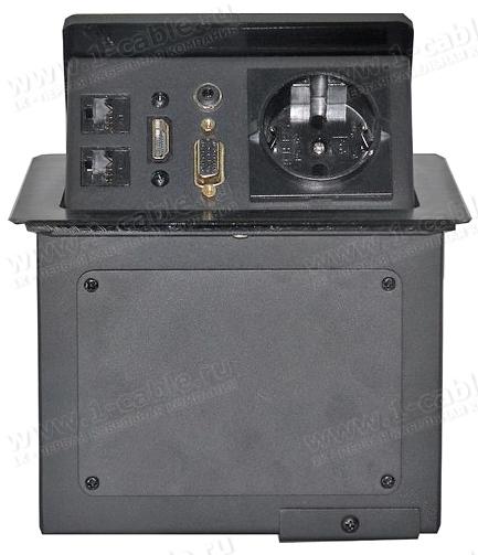 TB-FC-SM1 (снят с производства), Люк настольный коммутационный для одного рабочего места с поднимающейся над столом панелью