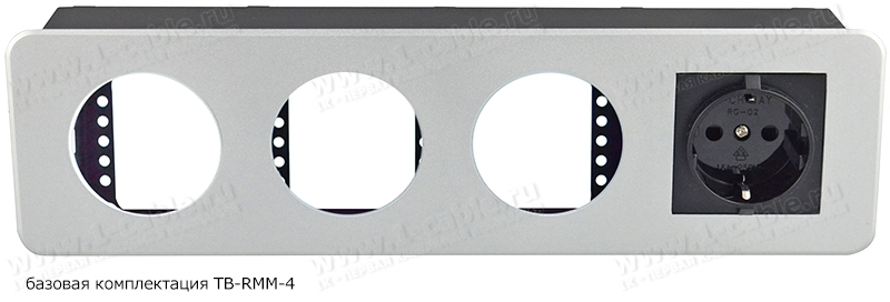 TB-RMM-4, Модульный блок для аудио-видео-мультимедиа розеток, серия Round Modular