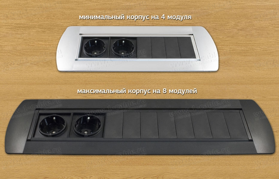 Блок с ручным открытием, возможное максимальное и минимальное количество модулей