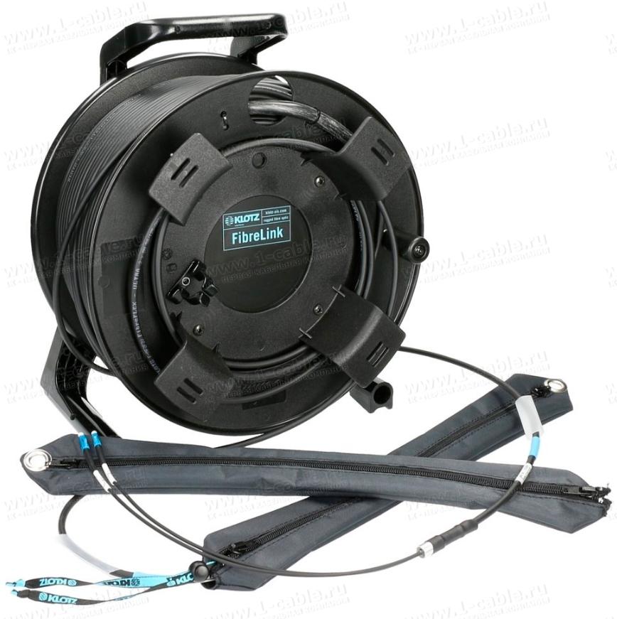 F2US55G150, Оптическая система со стандартными разъемами на катушке серии GT, 2x LC > 2x LC