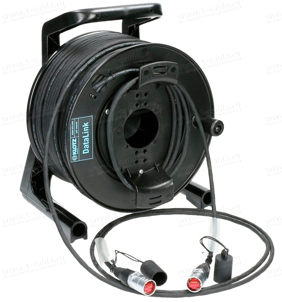 Кабельная система на катушке, на внешнем держателе 1x Ethernet 5E RJ-45 штекер > 1x Ethernet 5E RJ-45 штекер