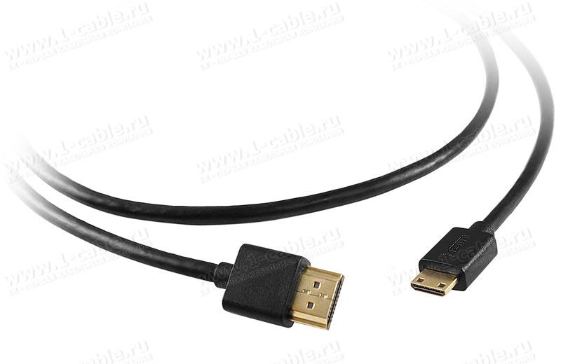 Переходной кабель HDMI, серия Standard, mini штекер (тип C) > штекер (тип A)