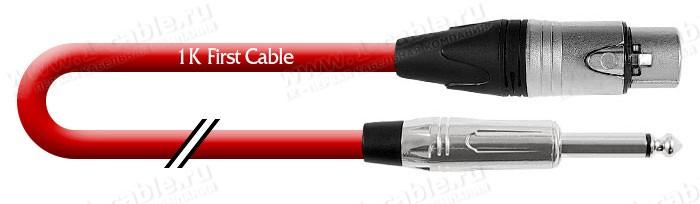 Кабель микрофонный, Basic, XLR3 гнездо > Jack 6.3 mono штекер (Amphenol)