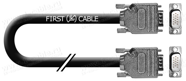 1K-VGA1-10, Кабель видео компонентный VGA/RGBHV, Grade High-Definition, D-Sub 15-пин штекер > D-Sub 15-пин штекер
