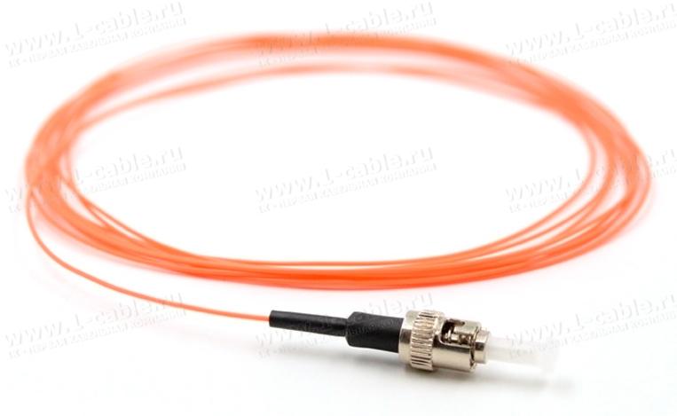 Кабель монтажный, оптический, пигтейл > ST штекер, многомодовое волокно, симплекс