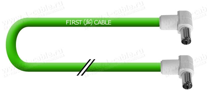 Кабель Антенный 75 Ом, IEC штекер > IEC штекер
