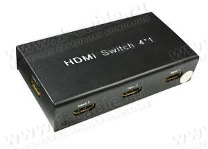 Видео коммутатор сигналов HDMI (версия 1.3) 4х1 с ИК пультом управления