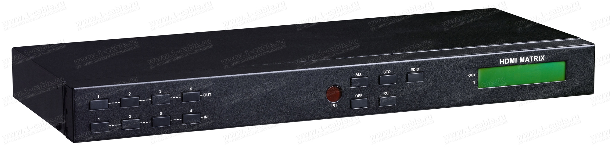 HIT-HDMI-X444PRO (снят с производства), Матричный видео коммутатор сигналов HDMI 4х4, серия RACK с управления ИК и RS232