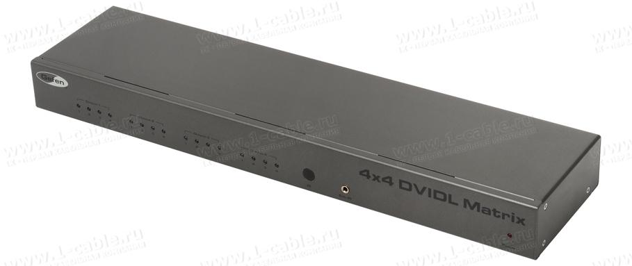 EXT-DVI-444DL, Видео коммутатор сигналов DVI Dual Link (3840x2400) 4х4 с ИК пультом управления