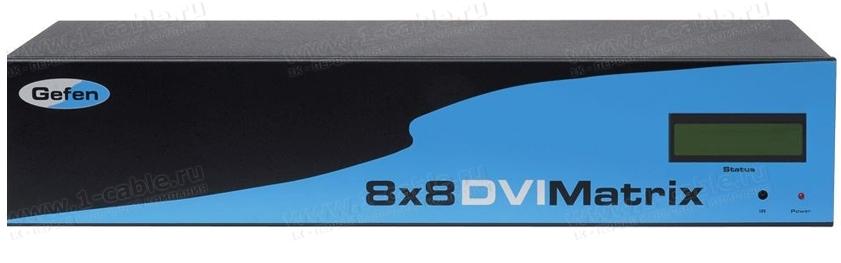 EXT-DVI-848, Матричный видео коммутатор HDTV (DVI) 8х8 с удаленным управлением по Cat5 и ИК пультом