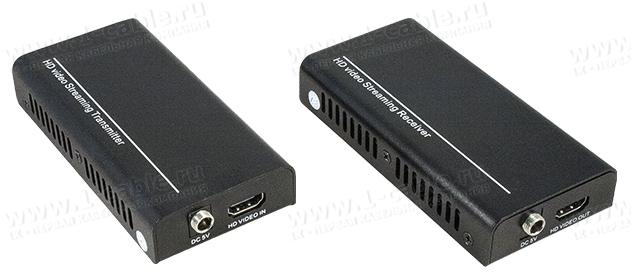 HIT-HDMI-IPPoECAT6-200, Сетевой удлинитель линий HDMI по одному кабелю витая пара (5e/6 Кат) на длины до 175/200 м, каскадирование сигналов IP-свитчом, поддержка PoE