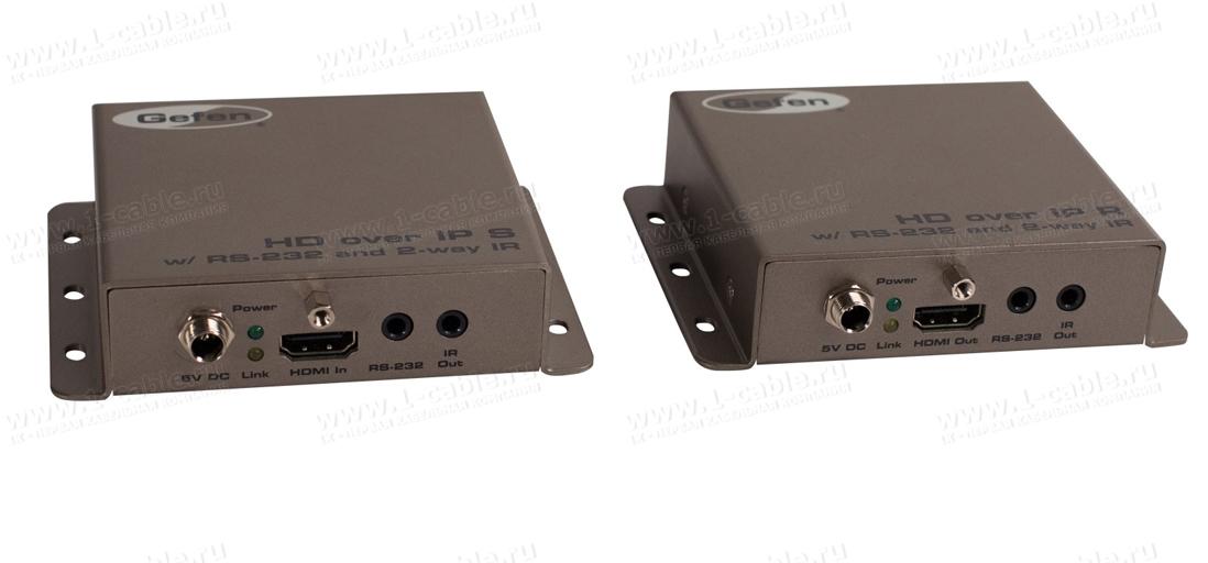 EXT-HD2IRS-LAN-TX, Удлинитель HDMI, RS-232, двунаправленного ИК по кабелю витая пара (5e/6 Кат) или по локальной сети на длины до 100 м