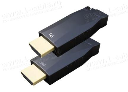 HIT-HDMI4K2K-FO-300, Компактный удлинитель сигналов HDMI Ultra HD (4K2K) по оптоволокну на расстояние до 400м