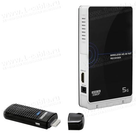 HIT-WHDMI-Stick, Беспроводной компактный усилитель цифровых HDMI сигналов (1080p) на расстояние до 20 м