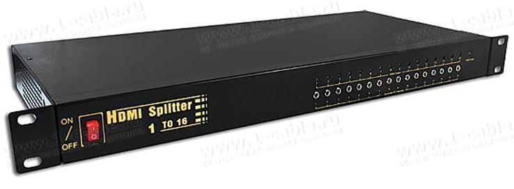 Распределитель сигналов HDMI 1:16, 1 вход > 16 выходов, дистанционное управление ИК сигналами