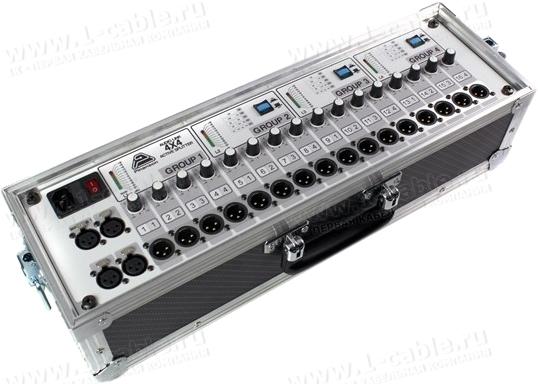 PT23110, Активный Audio Link 4х4 разветвитель в туровом исполнении